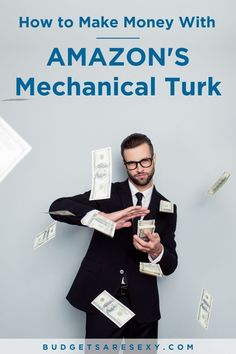 How to make money with Amazon's mechanical turk. Check it out today. | Budgets Are Sexy #makemoney Make More Money, Ways To Save Money, Make Money Online, Hustle Series, Amazon Mechanical Turk, What Is Amazon, Lending Library, Best Money Saving Tips, Investing Money