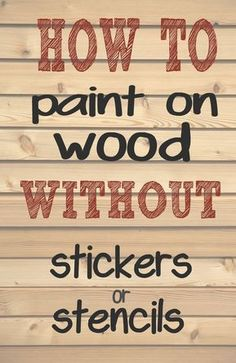 How to paint letters and words on wood without needing stencils or stickers. - How to paint letters and words on wood without needing stencils or stickers. Making those professi - Painted Letters, Painted Signs, Stencil Letters On Wood, Stencil Patterns Letters, Sign Letters, Stencils For Wood Signs, Monogram Signs, Diy Wood Projects, Woodworking Projects