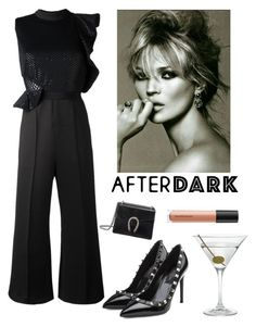 """""""The Look After Dark"""" by kotnourka ❤ liked on Polyvore featuring self-portrait, Valentino, Gucci, Nordstrom and Bare Escentuals"""