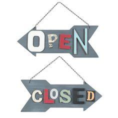 Pannello con frecce Open/closed