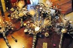 Make an eclectic wedding bouquet out of wire, feathers, buttons …and wine! | Offbeat Bride
