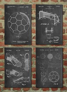 Soccer Patent Posters Group of Soccer Gifts, Sports Decor, Soccer Mom, Soccer Wall Art, - mãe e bebê Soccer Decor, Soccer Art, Soccer Poster, Soccer Gifts, Soccer Boys, Sports Decor, Boys Soccer Bedroom, Soccer Sports, Sports Wall