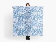 Blue foliage by Artskratch #scarf #fashion #foulard #accessory