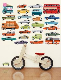 Coole retro Autos als Wandsticker