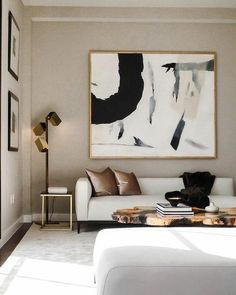 33 Beautiful Contemporary Living Room Decoration Ideas - When you walk into a room on of the first things you notice is the furniture. While designing your new living room, please keep this in mind. The styl. Home Living Room, Apartment Living, Living Room Designs, Apartment Therapy, Home And Deco, Modern Interior Design, Interior Trim, Luxury Interior, Interior Plants