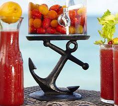 Anchor Drink Dispenser Stand #potterybarn