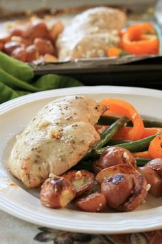 """Sheet Pan Chicken Dinner for Two 