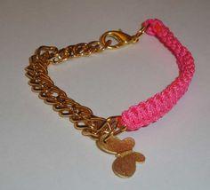 Neon macrame bracelet Chic bright pink