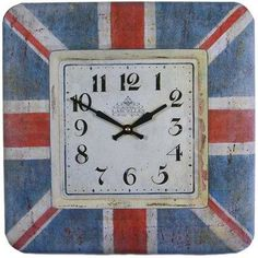 Show your support of the UK with this Union Jack Wall Clock