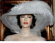 """Victorian Wedding Hat """"Miss Wedding White Crystal Fairy"""" Victorian Tea Hat Victorian Hat $189.00"""