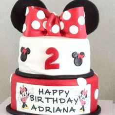 Disney themed birthday cake at www.msgoodycupcake.com