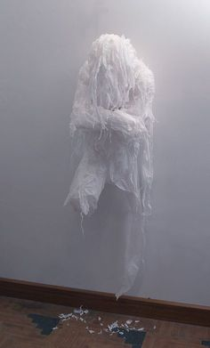 Khalil Chishtee: white trash bags  http://www.khalilchishtee.com/