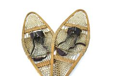 Vintage Snowshoes / Antique Snowshoes by HuntandFound on Etsy, $237.00