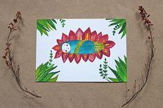 Postkarte Baby von Irina Mmurs Things auf DaWanda.com
