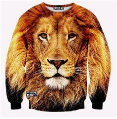 3D Sweatshirts animal lion/Cat/Wolf/owl pullover Hoodies