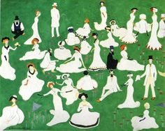Kazimir Malevich High Society in Top Hats, 1908 Watercolor gouache on cardboard, 23.8 x 30.2 cm