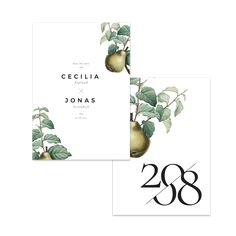 Mustiga päron – Save The Date Save Date, Place Cards, Place Card Holders, Paper, Products