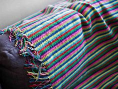 Crocheted blanket - easy but time-consuming to make, and looks lovely! Easy Crochet Blanket, Afghan Blanket, Crochet Hooks, Free Crochet, Knit Crochet, Crochet Patterns, Diy Projects, Knitting, How To Make