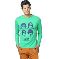 Made from the finest quality combed cotton, the garment is manufactured as per international quality standards and bio-washed to give it an ultra soft feel. Screen-printed using state of the art European technology.  DO NOT BLEACH. WARM IRON IF NEEDED. DO NOT IRON ON PRINT DIRECTLY. MACHINE WASH COLD WITH LIKE COLORS. TUMBLE DRY LOW. Rs. 799.00