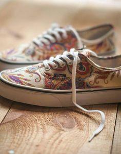 Paisley Vans- love my new fav casual shoe::