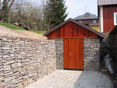 gabion retaining walls I think this will make a great root cellar