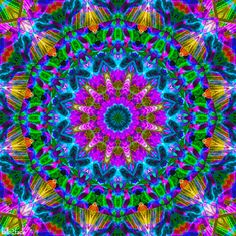 A Glow Animated Kaleidoscope
