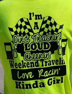 Personalized Dirt Track Racing Shirt/Racing Shirt/Girl's Dirt Track Racing Shirt by on Etsy Sprint Car Racing, Dirt Track Racing, Auto Racing, Triumph Motorcycles, Motocross, Race Quotes, Mopar, Dodge, Races Outfit
