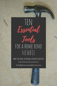 Thinking of renovations? Here's a guide to all the essential tools of the DIY home reno trade to take you from clueless to pro! 10 Essentials, Do It Yourself Projects, Home Reno, Clueless, Diy Tools, Home Projects, Diy Home Decor, Diy Crafts, Group