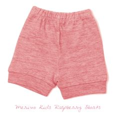 Merino Kids Raspberry Shorts Merino Wool, Organic Cotton, Raspberry, Gym Shorts Womens, Short Dresses, Range, Classic, Kids, Fashion