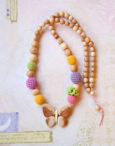 Crochet Mommy / Teething Necklace