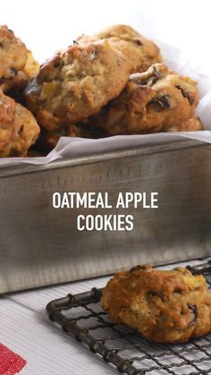 This #Oatmeal #Apple #Cookie recipe was originally published in the 1970 edition of the Sugar Plums for Sugar Land Cookbook. All the hearty flavor of the olden days. This #recipe makes a TON of cookies, so it's great for a #party -- but it can easily be halved if you don't need as many. This #Fall treat is perfect for a back to school #snack or #dessert. For more cookie, bar and brownie recipes visit www.imperialsugar.com. #imperialsugar Fun Baking Recipes, Easy Cookie Recipes, Apple Recipes, Sweet Recipes, Snack Recipes, Dessert Recipes, Brownie Recipes, Cooking Recipes, Sweet Desserts