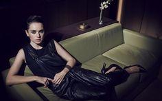 Herunterladen hintergrundbild daisy ridley, britische schauspielerin, porträt, schwarzes kleid, schöne frau