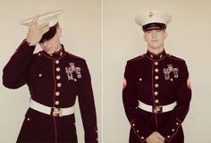 I love my Marine. :) (this isn't him but it makes me think of him) Military Girlfriend, Military Love, Military Humor, Usmc Dress Blues, Summer Suits, Men In Uniform, Military Equipment, Arizona Wedding, Sharp Dressed Man