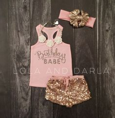 Birthday Babe infant tank top in silver sparkle