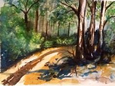 Just follow the Path Watercolour By Artist Sharon Wood swoody@internode.on.net
