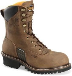 "Carolina Men's 8"" Waterproof Insulated Steel Toe Logger Work Boots - HeadWest Outfitters"