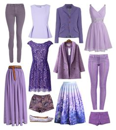 """Purple People"" by themormonhall on Polyvore featuring Diane Von Furstenberg, WithChic, Shoshanna, dVb Victoria Beckham, Boutique Moschino, Chicwish, MINKPINK, Madewell and Steve Madden"