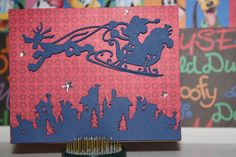 Christmas Card Disney Mickey Mouse on a Sleigh