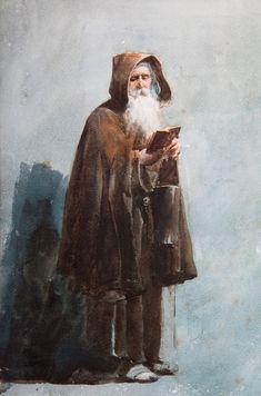 """Josep Tapiró Baró (1836 - 1913). """"Frare captaire, 1860""""."""