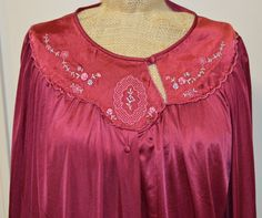 Check out this item in my Etsy shop https://www.etsy.com/listing/253455705/vintage-80s-lorraine-burgundy-red-floral
