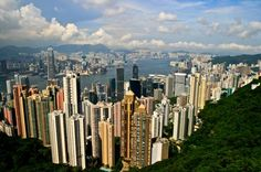 Hong Kong skyline from the Peak. Yes I have been in this EXACT spot, but it was humid and foggy so it didn't look as amazing as this
