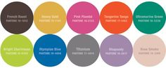 Pantone Fall 2012 Colors #colortrends #fall