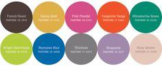 Pantone's top colors for Fall 2012