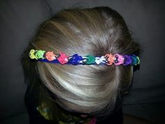 How to attach a Rainbow Loom bracelet to a Headband. Tutorial on TheParentingChannel. Click photo for YouTube tutorial. 10/29/13