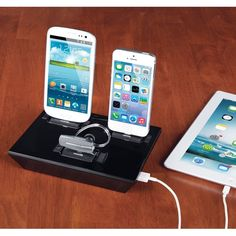 The Any Device Charging Dock. from Hammacher Schlemmer on shop.CatalogSpree.com, your personal digital mall.