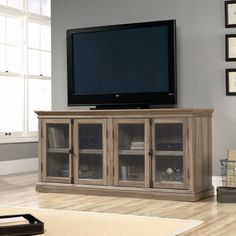 "Free Shipping. Buy Sauder Barrister Lane Credenza, for TVs up to 80"", Salt Oak at Walmart.com"