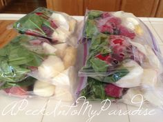 A Peek Into My Paradise: Freezing Smoothie Packets & Super Fruity Smoothie Recipe