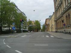 An empty street on a typical weekend in Helsinki