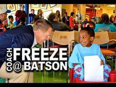 Ole Miss Football Coach Hugh Freeze Visits Batson Children's Hospital | http://newsocracy.tv