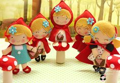 felt little red riding hood doll